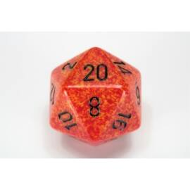 Chessex Speckled 34mm 20-Sided Dice - Fire