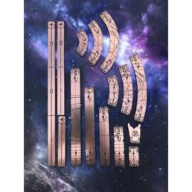 Kraken Wargames - Space Template gold/black with tray (für 2.0 X-Wing geeignet)