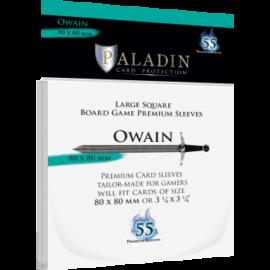 Paladin Sleeves - Owain Premium Large Square 80x80mm (55 Sleeves)