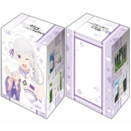 "Bushiroad Deck Holder Collection V2 Vol.1337 Re:Zero to Start Otherworldly Life: The Bond of Ice Emilia"""""