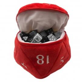 UP - D20 Plush Dice Bag - Red