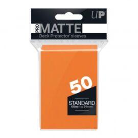 UP - Standard Sleeves - Pro-Matte - Non Glare - Orange (50 Sleeves)
