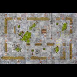 Kraken Wargames Gaming Mat - Industrial Grounds 3x3