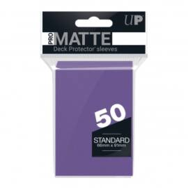 UP - Standard Sleeves - Pro-Matte - Non Glare - Purple (50 Sleeves)