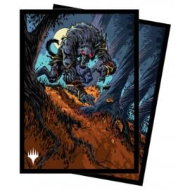 UP - Standard Sleeves for Magic: The Gathering - Innistrad Midnight Hunt V1 (100 Sleeves)