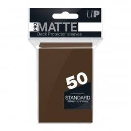UP - Standard Sleeves - Pro-Matte - Non Glare - Brown (50 Sleeves)