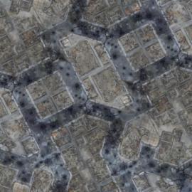 Kraken Wargames Gaming Mat - Titan Warzone City 4x4 2.0