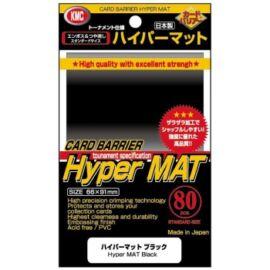 KMC Standard Sleeves - Hyper Mat Black (80 Sleeves)