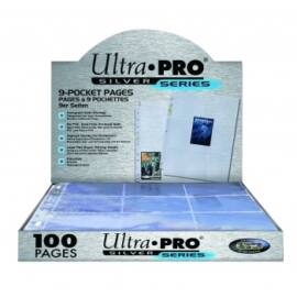 UP - Silver 9-Pocket Pages (11 Hole) Display (100 Pages)