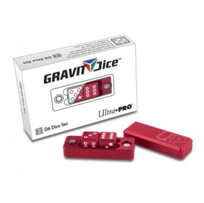 UP - Gravity Dice D6 - Crimson - 2 Dice Set