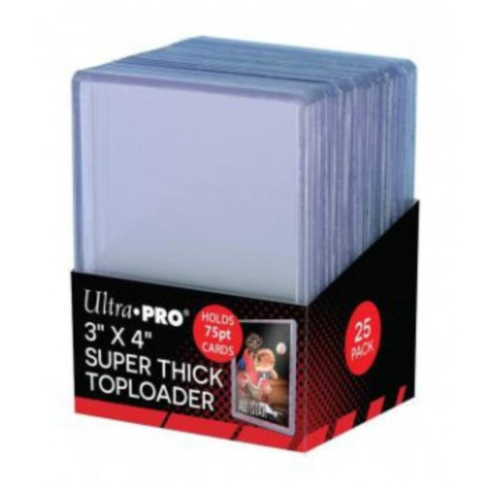 """UP - 3 x 4"""" Thick 75PT Toploader (25 Pieces)"""""""