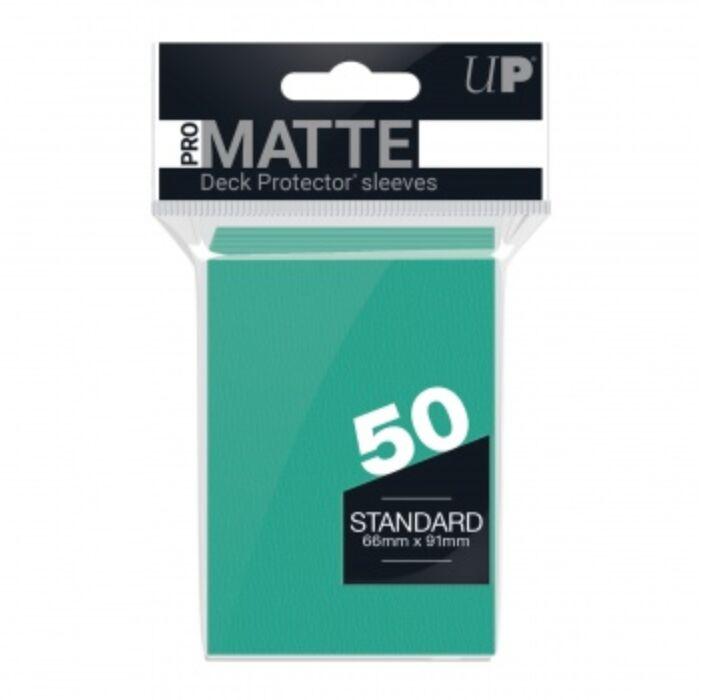 UP - Standard Sleeves - Pro-Matte - Non Glare - Aqua (50 Sleeves)