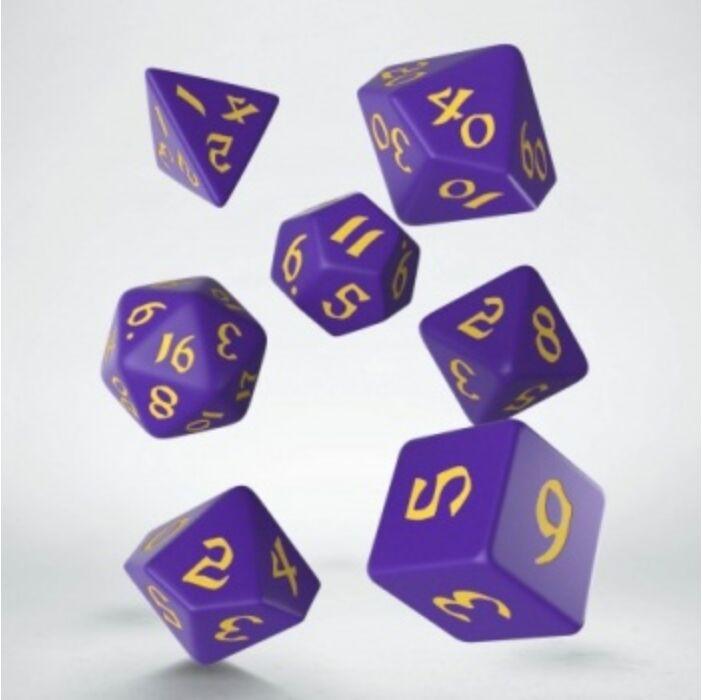 Classic Runic Purple & yellow Dice (7)