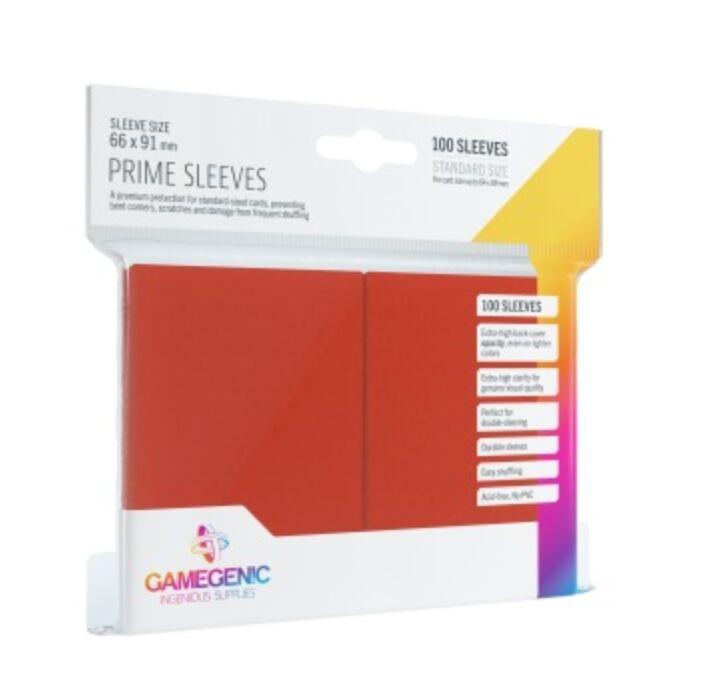 Gamegenic - Prime Sleeves Red (100 Sleeves)
