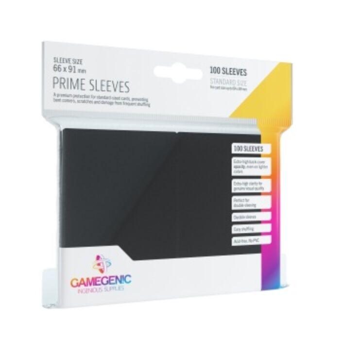 Gamegenic - Prime Sleeves Black (100 Sleeves)