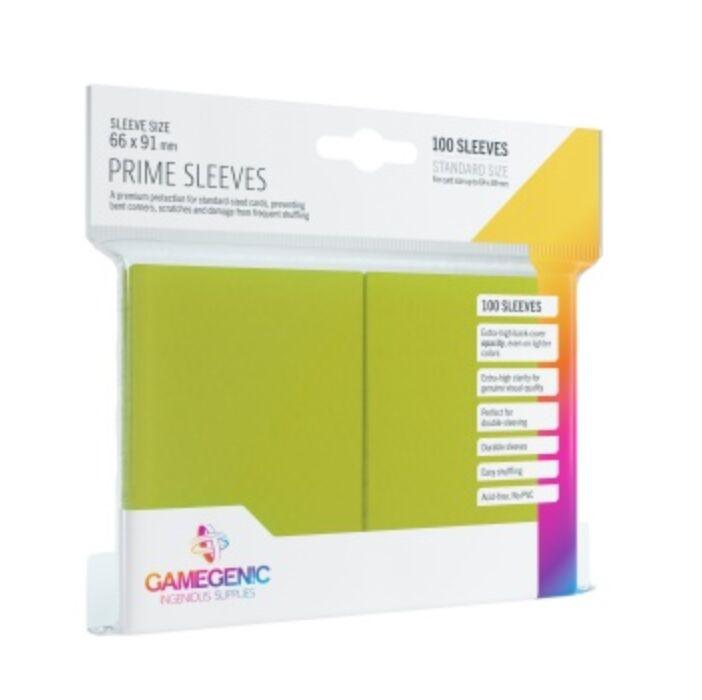 Gamegenic - Prime Sleeves Lime (100 Sleeves)