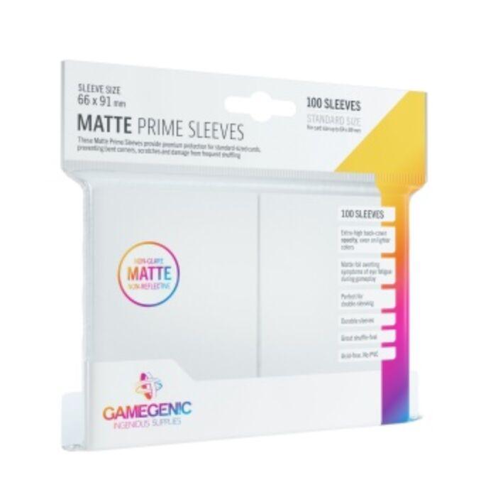 Gamegenic - Matte Prime Sleeves White (100 Sleeves)