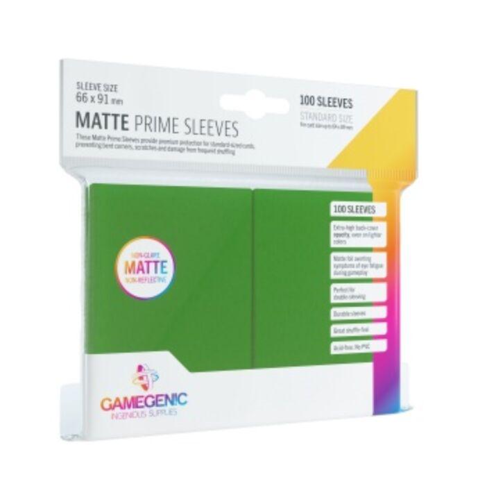 Gamegenic - Matte Prime Sleeves Green (100 Sleeves)