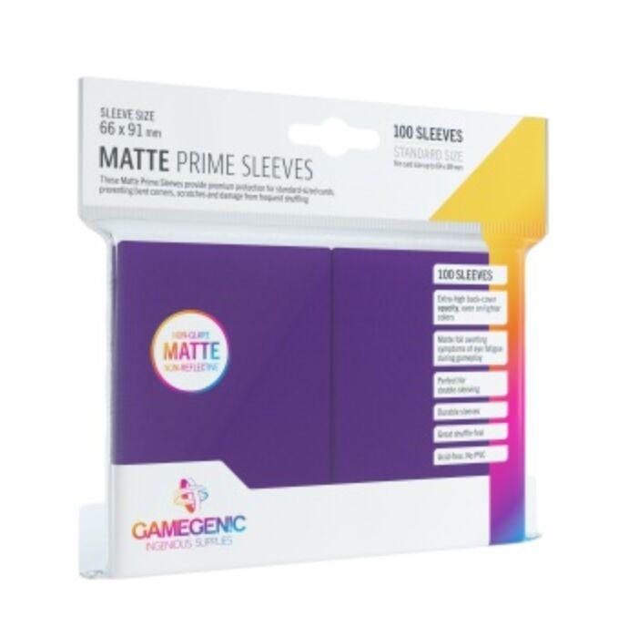 Gamegenic - Matte Prime Sleeves Purple (100 Sleeves)