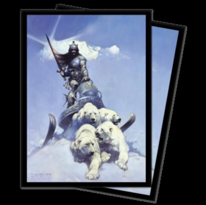 UP - Standard Sleeves - Frank Frazetta Art sleeves - Silver Warrior (100 Sleeves)