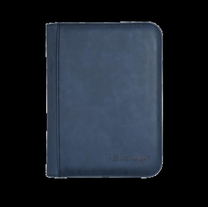 UP - Zippered Suede 4-Pocket Premium PRO-Binder - Sapphire