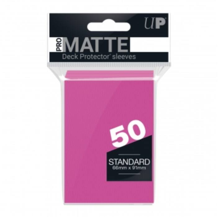 UP - Standard Sleeves - Pro-Matte - Non Glare - Bright Pink (50 Sleeves)