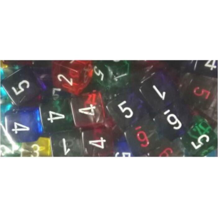 Chessex Translucent Bags of 50 Dice - Bag of 50: Translucent d6