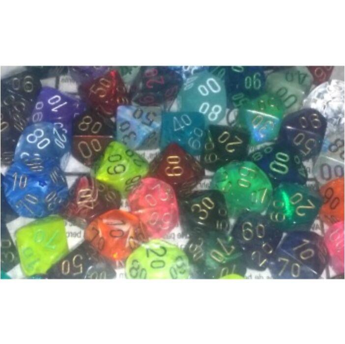 Chessex Signature Bags of 50 Asst. Dice - Tens 10 Dice