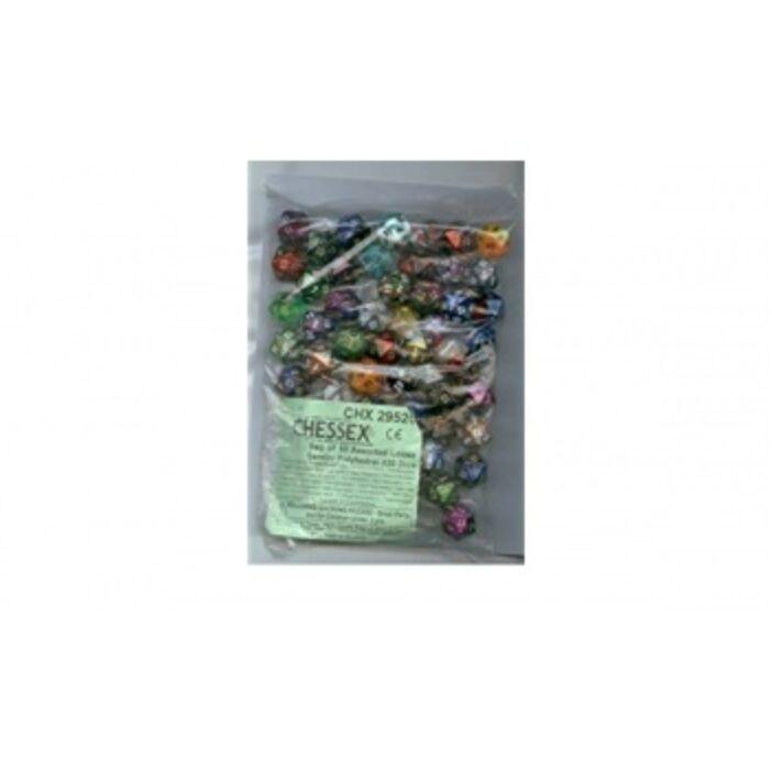 Chessex Gemini Bags of 50 Asst. Dice - Loose Gemini Poly. d20 Dice