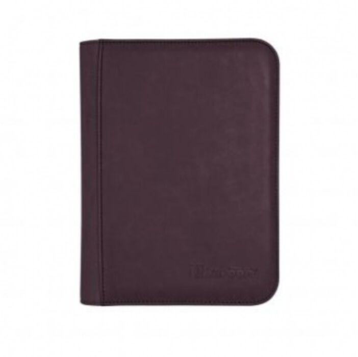 UP - Zippered Suede 4-Pocket Premium PRO-Binder - Amethyst