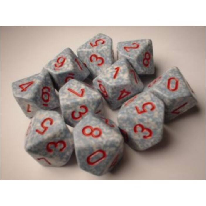 Chessex Speckled Polyhedral Ten d10 Set - Air