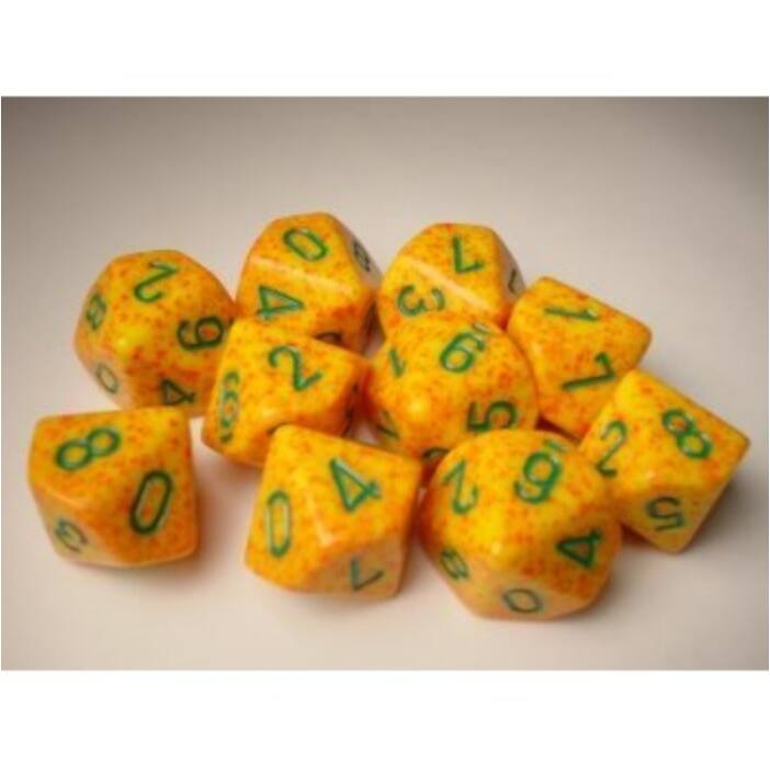 Chessex Speckled Polyhedral Ten d10 Set - Lotus