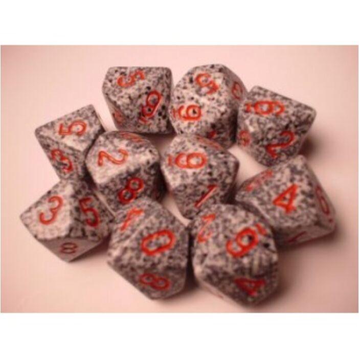 Chessex Speckled Polyhedral Ten d10 Set - Granite