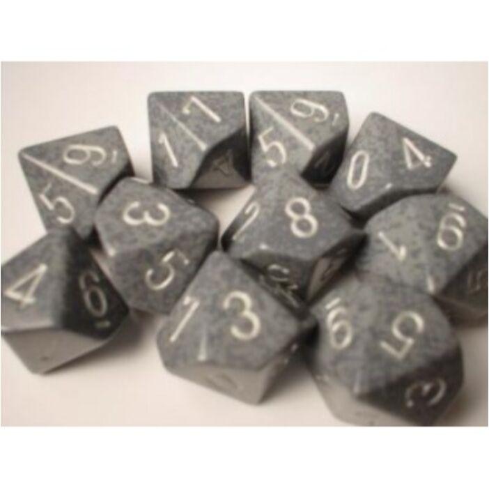 Chessex Speckled Polyhedral Ten d10 Set - Hi-Tech