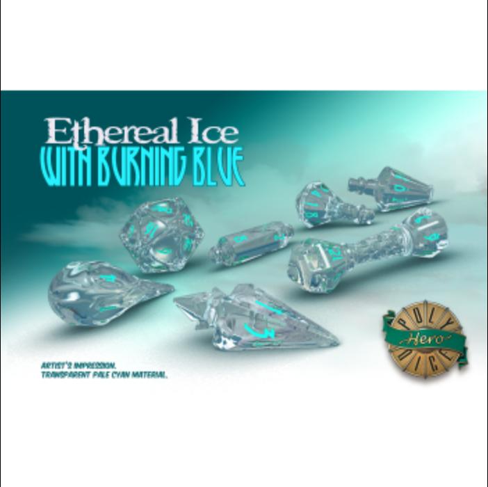 PolyHero Wizard Set - Ethereal Ice with Burning Blue