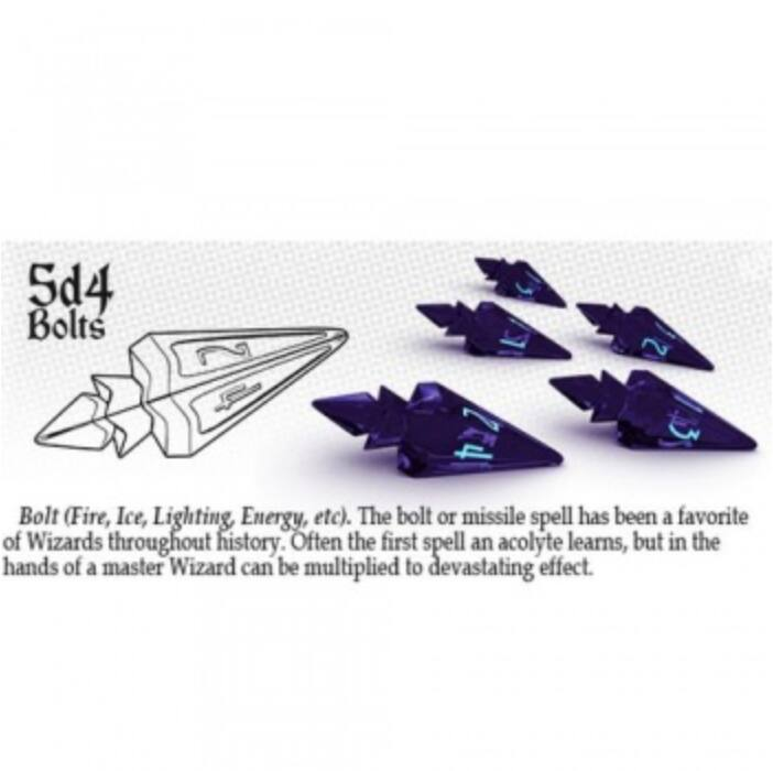 PolyHero 5d4 Bolts - Violet Storm with Lightning