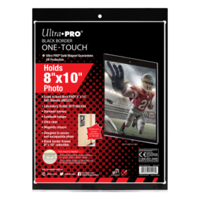 """UP - 8 x 10"""" Black Border ONE-TOUCH Magnetic Holder"""""""