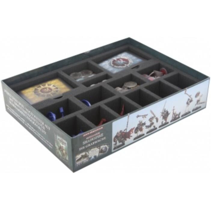 Feldherr foam tray set for Warhammer Underworlds: Shadespire - core game box