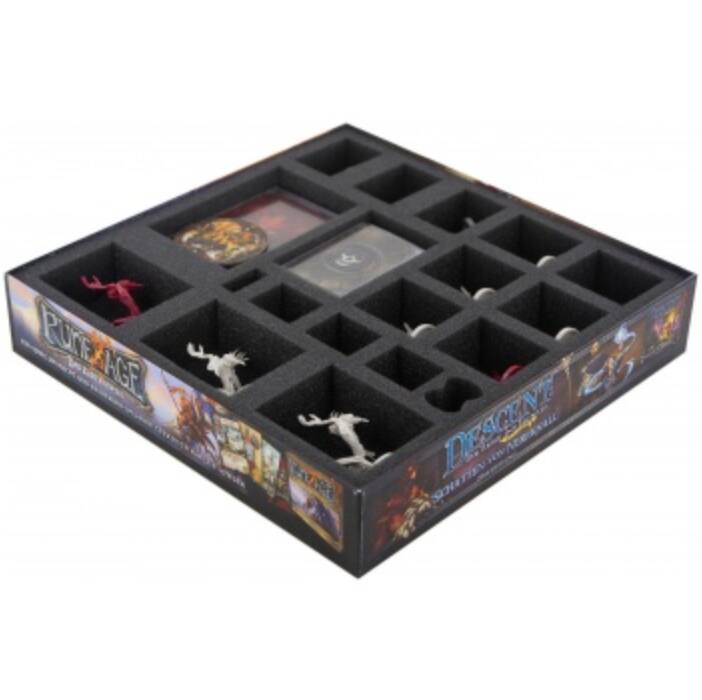 Feldherr foam tray set for Descent: Journeys in the Dark 2nd Edition - Manor of Ravens - board game box
