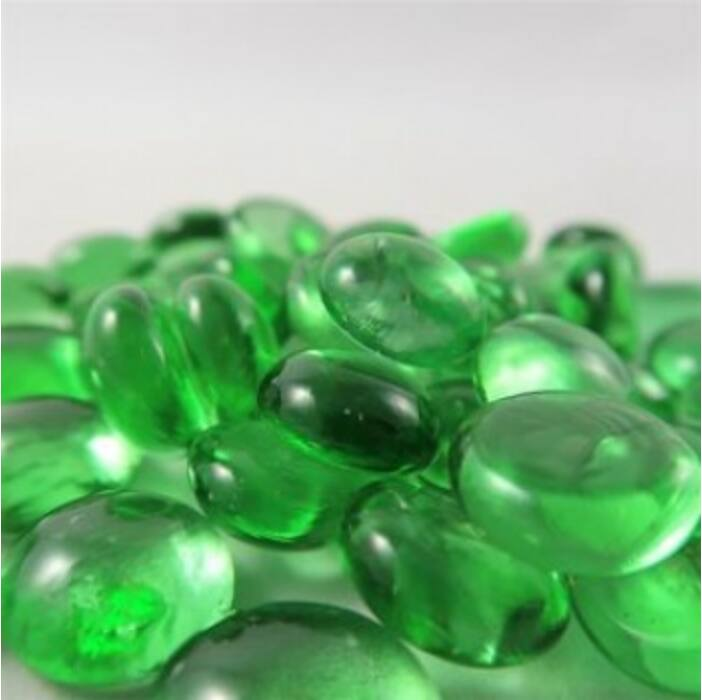 Chessex Gaming Glass Stones in Tube - Crystal Light Green (40)