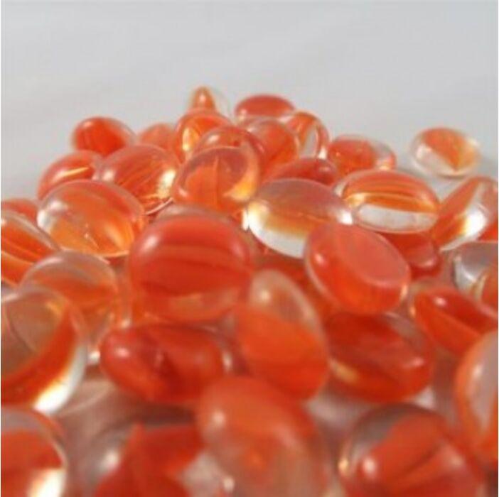 Chessex Gaming Glass Stones in Tube - Catseye Orange (40)