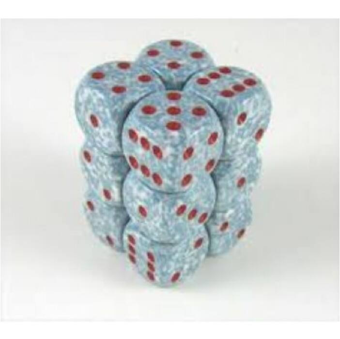 Chessex Speckled 16mm d6 with pips Dice Blocks (12 Dice) - Air