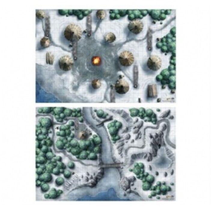 "D&D Icewind Dale: Map Set (2x 20x30"")"""