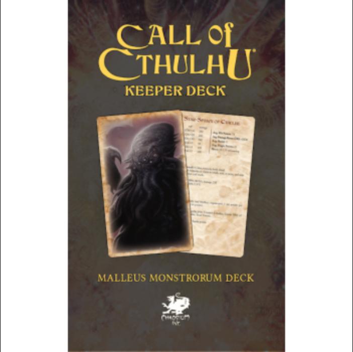 Call of Cthulhu RPG - The Malleus Monstrorum Keeper Deck - EN