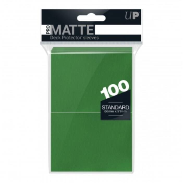 UP - Standard Deck Protector - PRO-Matte Green (100 Sleeves)