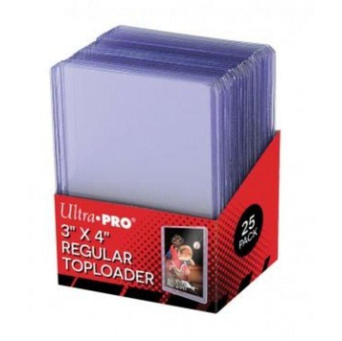 "UP - Toploader - 3 x 4"" Clear Regular (25 pieces)"""