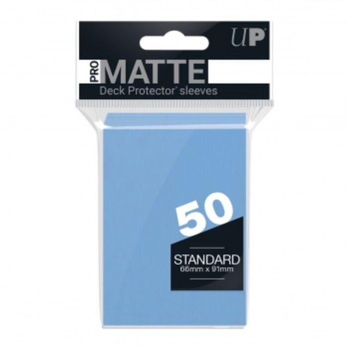 UP - Standard Sleeves - Pro-Matte - Non Glare - Light Blue (50 Sleeves)