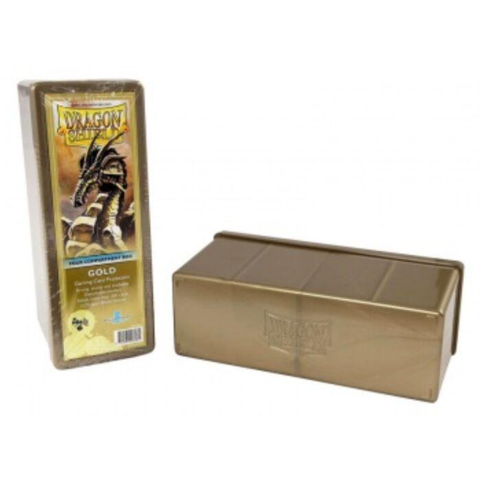 Dragon Shield - 4 Compartment Storage Box - Gold