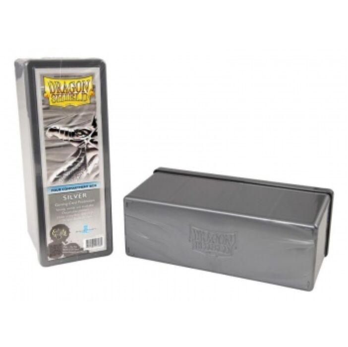 Dragon Shield - 4 Compartment Storage Box - Silver