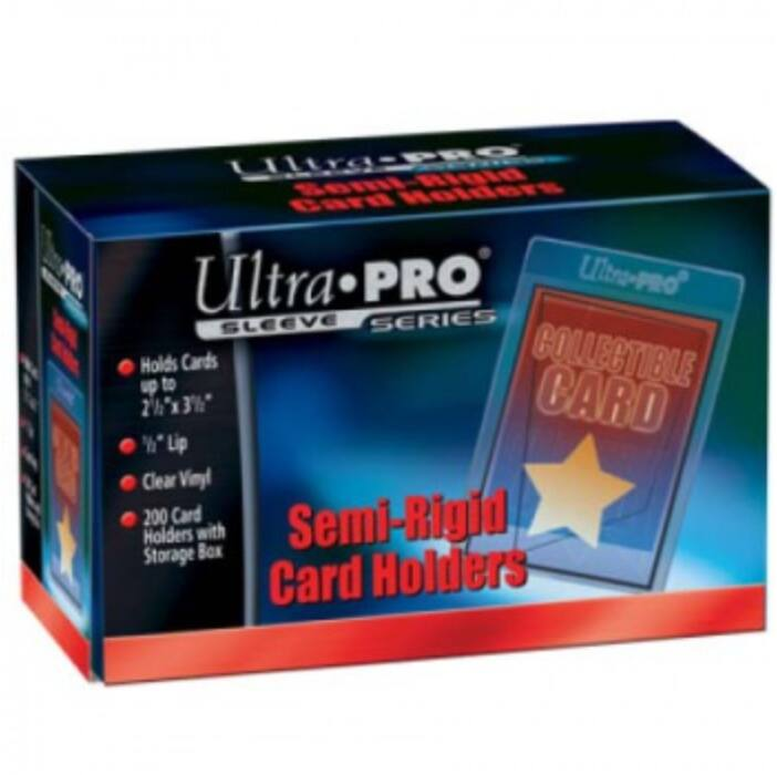 """UP - Semi-Rigid Card Holders with 1/2 Lip (200 Card Holders)"""""""